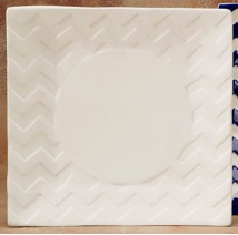 Chevron Charger Plate 11""