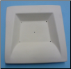 1243 - Square Dish with Rimmed and Sloped Edge