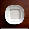 380 - Round Dish with Square Center