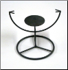 Candleholder Display Stand Round - CRTS5 - 5""