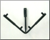 V Adj. Wall Stand - VWS79 - holds 7.50 to 16x16 glass. Arms adjust up and down.
