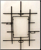 Wall Design Stand  W/4 Round Glass Holders