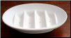 Oval Soap Dish with Ribbed bottom 5.25""