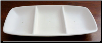 Three Section Rectangle Candy Dish 9.75""