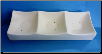 5306 - 3 Square Section Rectangular Sushi Dish
