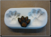 7001 - Cat Paw Print Casting Mold