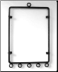 "Rectangular Wind Chime Holder 5"" x 7"""
